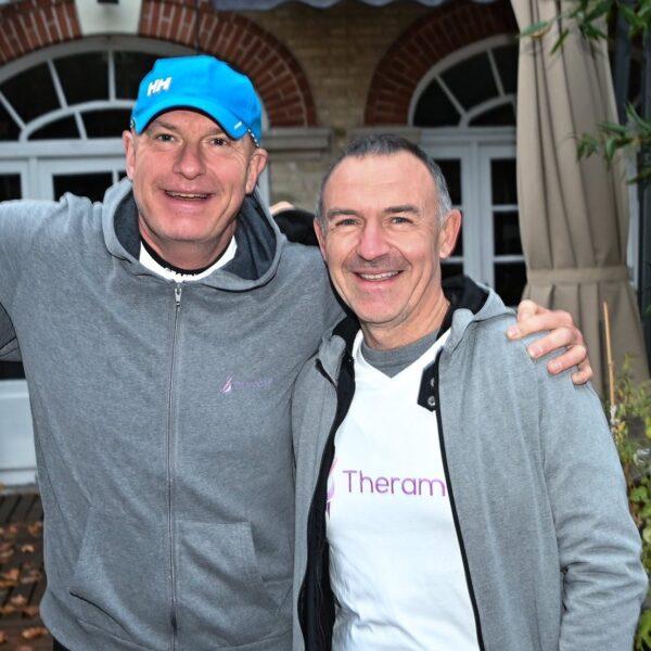 Charity run participants