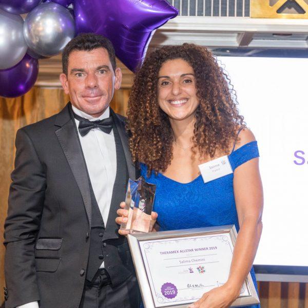 Gavin Jelic-Masterton, President, Global Fertility Franchise, and Theramex Allstar winner Salima Chemini